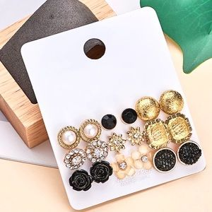 NICKLE FREE EARRINGS SET OF 9 | BRAND NEW